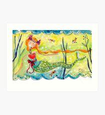 Love Mermaid Art Print