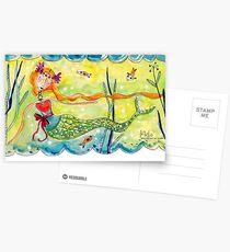 Love Mermaid Postcards