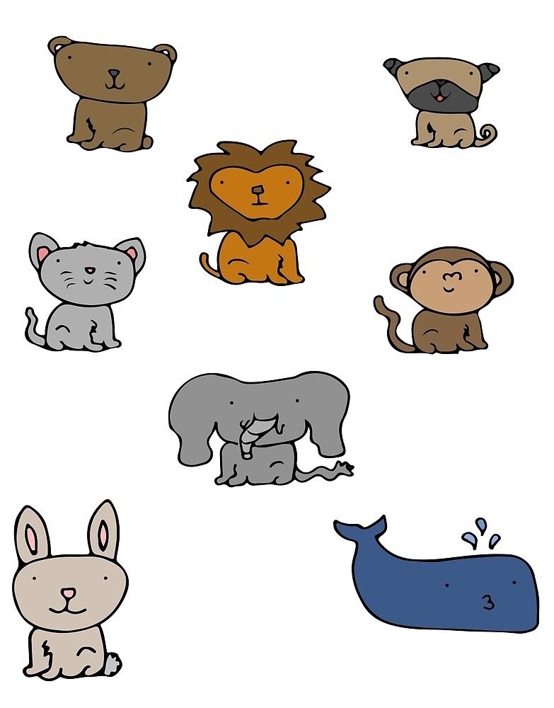 Bears, Dogs, Lions, Cats, Monkeys, Elephants, Rabbits, Whales - Oh My! by meowkenz95