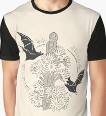 Night Bloom - Bat Graphic T-Shirt