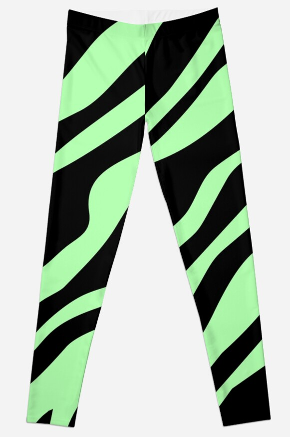 I Love Mint and Black Zebra Pattern by keedesigns