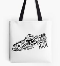 Tap Dance Shoe Filled with Tap Terms Tote Bag