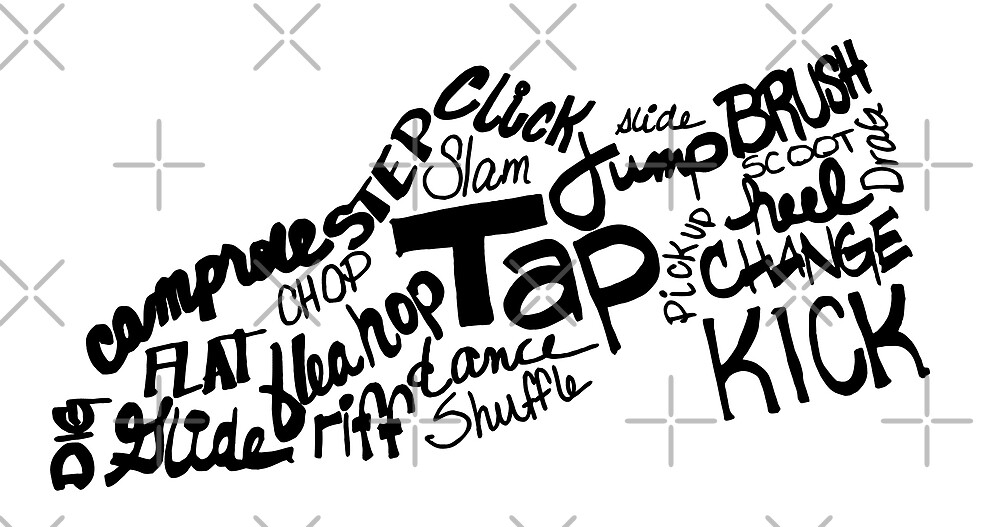 Tap Dance Shoe Filled with Tap Terms by tnbtees