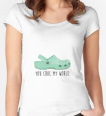 you croc my world Women's Fitted Scoop T-Shirt