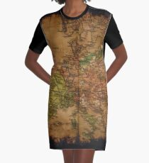 Map of Europe 1740 Graphic T-Shirt Dress