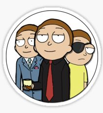 One and the Same | Eye Patch Morty Sticker Sticker