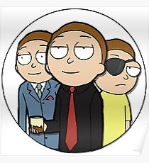 One and the Same | Eye Patch Morty Sticker Poster