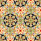 Pastel Carousel Black Circle by PatriciaSheaArt