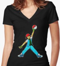 ash Women's Fitted V-Neck T-Shirt