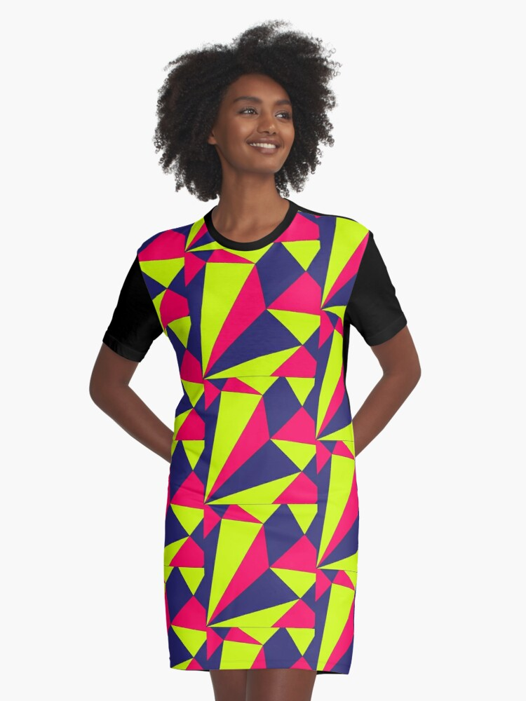 Triangles! Graphic T-Shirt Dress Front