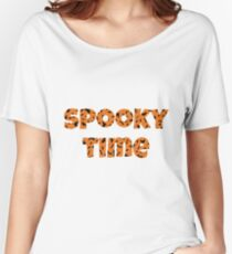 Spooky Time Halloween Time Happy Halloween  Women's Relaxed Fit T-Shirt