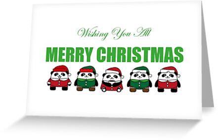 Pandas Wishing You All Merry Christmas by 108dragons