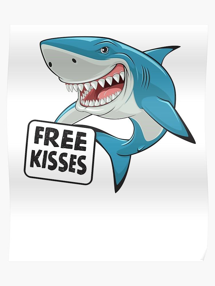 732eaa8d Free Kisses Shark T-Shirt Tee