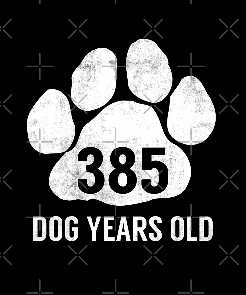 385 Dog Years Old Funny 55th Birthday Gag Gift by SpecialtyGifts