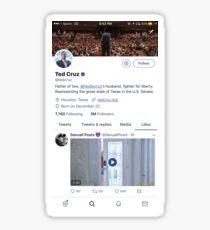 Ted Cruz Likes Twitter P*rn (REAL) Sticker