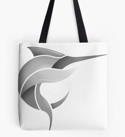 Black Marlin Blog Logo - Grey on White/Black Tote Bag