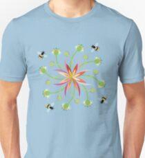 Honey Bees in a Flower Garden T-Shirt