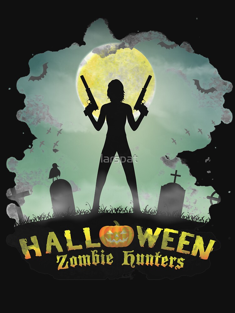 Halloween Zombie Hunters T-Shirt Tomb It May Concern Tee by larspat