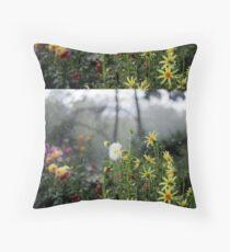 Dahlia Garden in a Thunder Storm  Floor Pillow