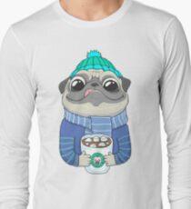 Pug with coffee Long Sleeve T-Shirt