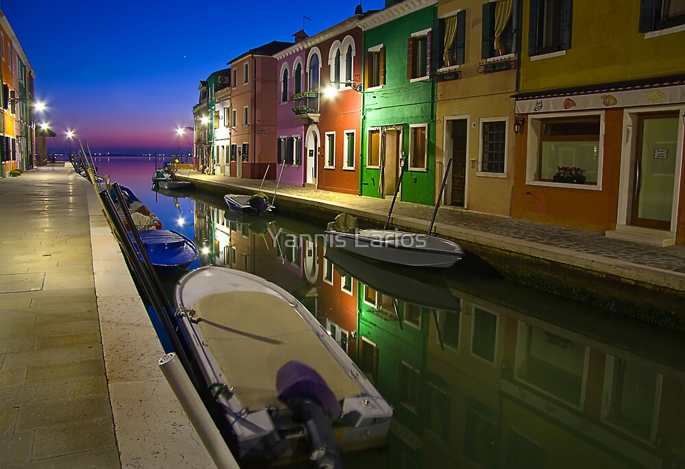 Burano reflections by Yannis Larios
