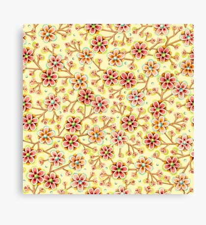 Candy Apple Blossom Canvas Print