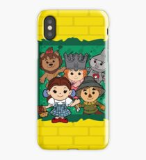 """""""Wizard of Oz"""" Kawaii, Yellow, Brick, Road, Emerald, Green, Dorothy, Ruby, Slippers, Toto, Cowardly Lion, Scarecrow, Tin Man, Basket, Purse, Gingham, Blue, Splatter, Paint  iPhone Case/Skin"""