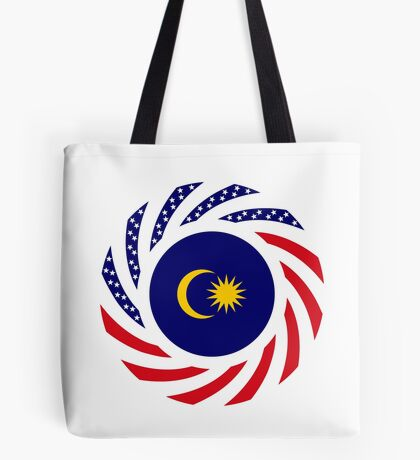 Malaysian American Multinational Patriot Flag Series Tote Bag