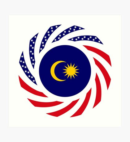 Malaysian American Multinational Patriot Flag Series Art Print