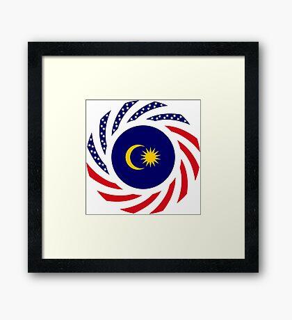 Malaysian American Multinational Patriot Flag Series Framed Print