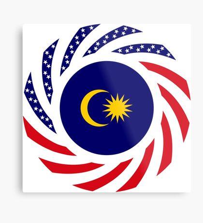 Malaysian American Multinational Patriot Flag Series Metal Print