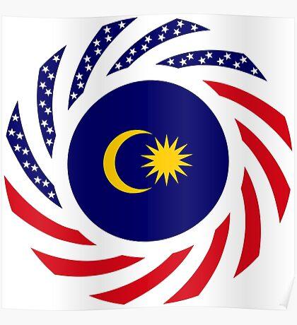 Malaysian American Multinational Patriot Flag Series Poster
