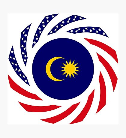 Malaysian American Multinational Patriot Flag Series Photographic Print