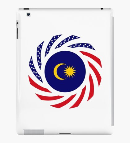 Malaysian American Multinational Patriot Flag Series iPad Case/Skin