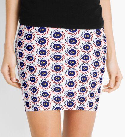 Malaysian American Multinational Patriot Flag Series Mini Skirt