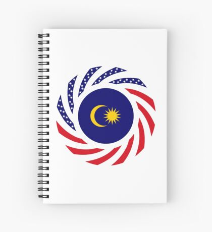 Malaysian American Multinational Patriot Flag Series Spiral Notebook