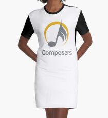 composers Graphic T-Shirt Dress