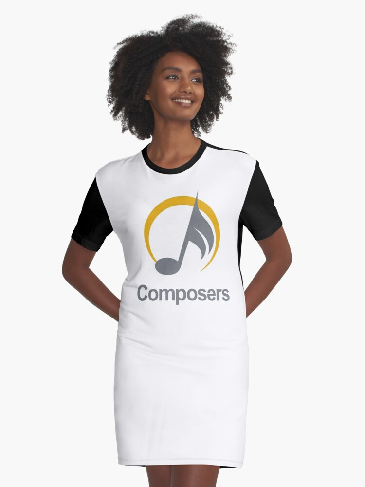 composers Graphic T-Shirt Dress Front