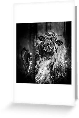 Bali Cremation Bull - Greeting Card by Glen Allison