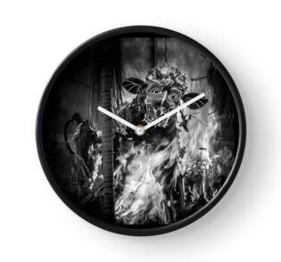 Bali Cremation Bull - Clock by Glen Allison
