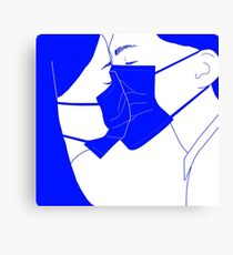 Slaves to any semblance of touch Canvas Print