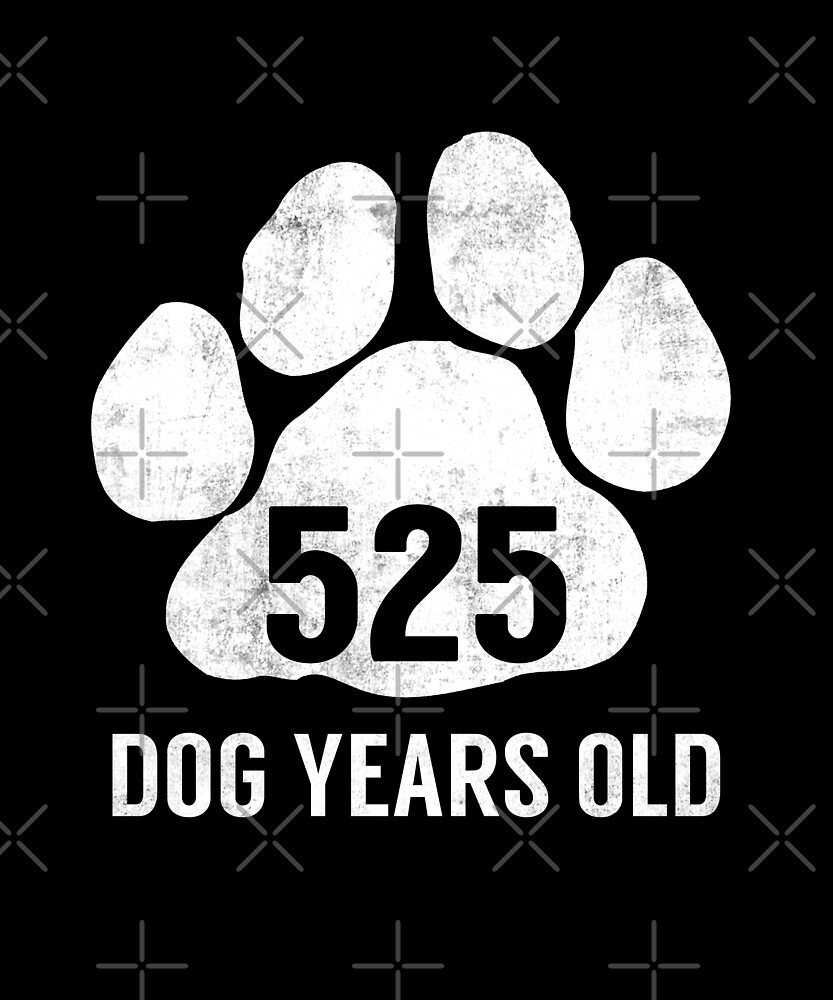 Funny Dog Years Old Funny 75th Retired Birthday Gift by SpecialtyGifts