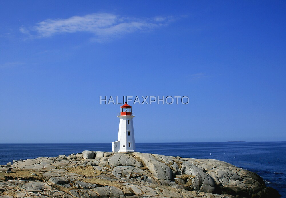 Peggys Cove Lighthouse by HALIFAXPHOTO