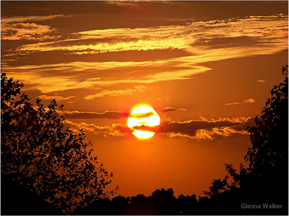 Sunset Silhouette by Glenna Walker