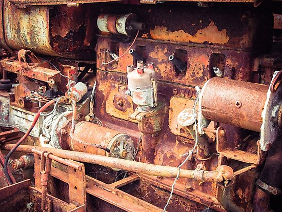 Rusty Tractor Engine by Michael McGimpsey