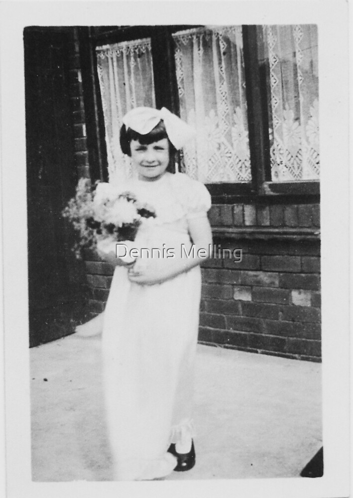 After My Mum & Dad's Wedding Bridesmaid (my Cousin Barbara) at My Grandparents House by Dennis Melling