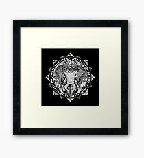 Elephant Medallion Framed Print