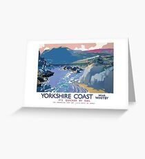 Yorkshire Coast Near Whitby It's Quicker By Rail Greeting Card