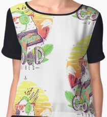 Polly Wants Some Good Vibes! Women's Chiffon Top