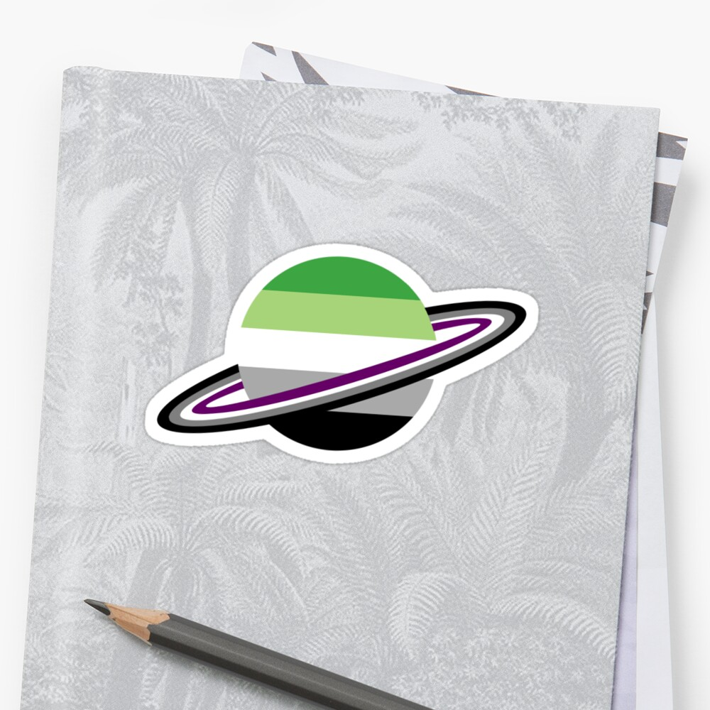 Aromantic/Asexual Pride Planet by apollojj